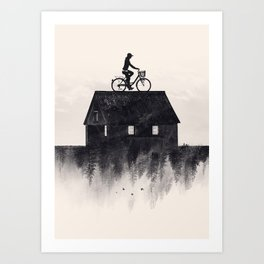 Ride Home (b&w) Art Print