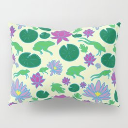 Jumping Frogs of Lily Pad Valley Pillow Sham