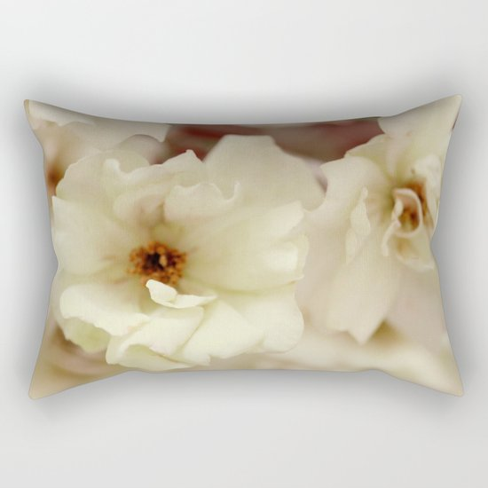 Vintage Dream Roses - JUSTART © Rectangular Pillow