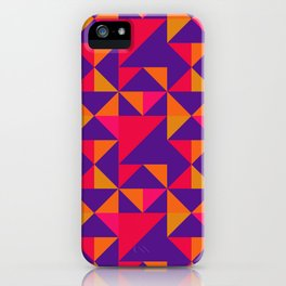 Retro Triangle Block Pattern 2 iPhone Case