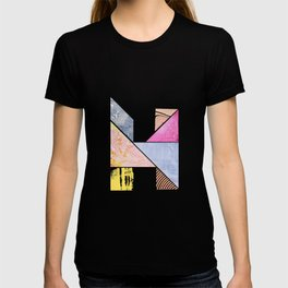 Collaged Tangram Alphabet - H T-shirt