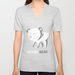 Molar Bear Cat Owner and Lover Gift Unisex V-Neck