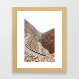 Todgha Gorge in the south of the High Atlas in Morocco Framed Art Print