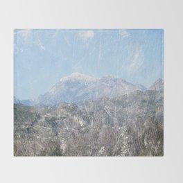 Snow-capped Mountains Throw Blanket