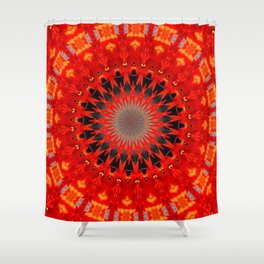 RED CIRCLE Shower Curtain