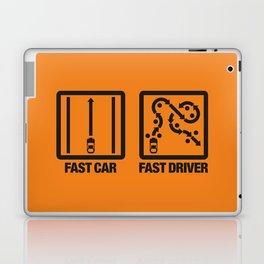 Fast Car - Fast Driver v2 HQvector Laptop & iPad Skin