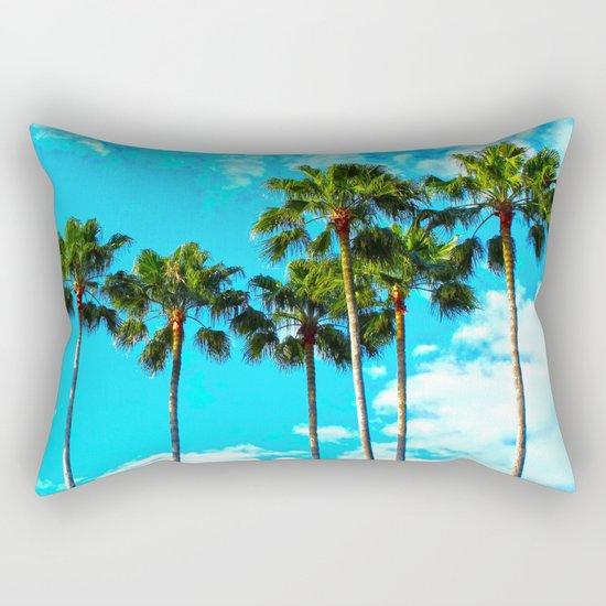 Tropical Palm Trees Rectangular Pillow