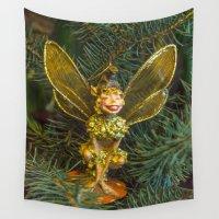 elf Wall Tapestries featuring Winged elf by Svetlana Korneliuk