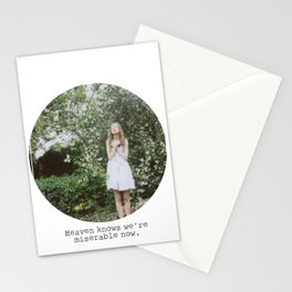Heaven knows we're miserable now. Stationery Cards