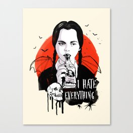 Wednesday The Addams family art Canvas Print