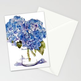Cape Cod Hydrangea Large Canvas Stationery Cards