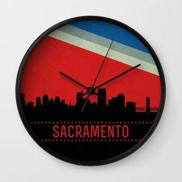 Sacramento Skyline Wall Clock