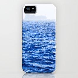 Isolated Island - Filfla Malta   Shades of Blue iPhone Case