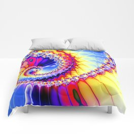 BBQSHOES™: Wu Wei Spiral Fractal Psychedelic Art Comforters