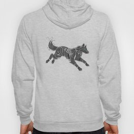 Shimmering Silver Ghost Wolf Hoody