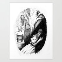 les mis Art Prints featuring Les Mis From A Beginning To An End - Cosette by Flávia Marques