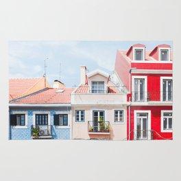 Colorful Buildings Rug