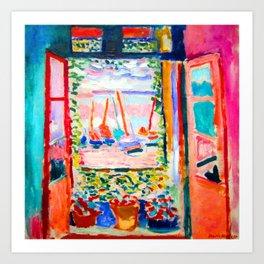 Henri Matisse Open Window Art Print