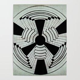 geometric b&w Poster