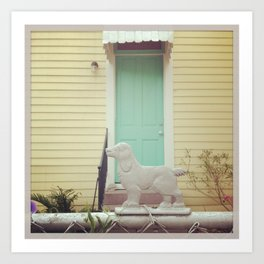 Bywater Guard Dog, New Orleans Art Print