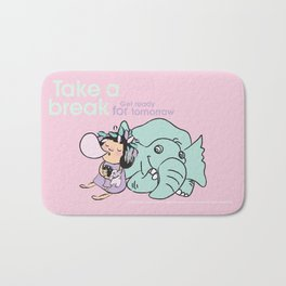 Lala's Adventure - A Smile is a curve that sets everything straight. Bath Mat