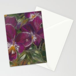Starburst of purples and mauves Stationery Cards