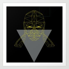 polygon head Art Print