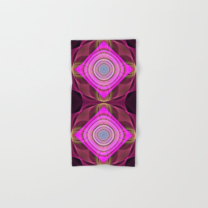 Colourful geometric abstract with translucent patterns Hand & Bath Towel