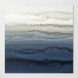 WITHIN THE TIDES - CRUSHING WAVES BLUE Canvas Print