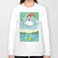 haunted mansion Long Sleeve T-shirts featuring Baby Haunted Mansion Tightrope Ballerina by Amanda K. Hootman