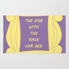 the One With the Race Car Bed - Season 3 Episode 7 - Friends - Sitcom TV Show Rug
