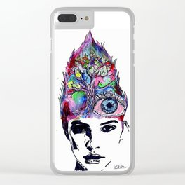 imagination of the creative mind Clear iPhone Case