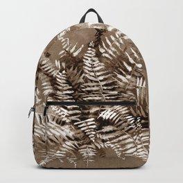 Fern in brown scale Backpack