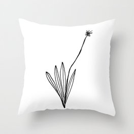 Line Art Botanical, Modern Floral Throw Pillow