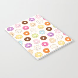 Happy Cute Donuts Pattern Notebook