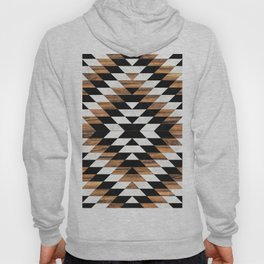 Urban Tribal Pattern No.13 - Aztec - Concrete and Wood Hoody