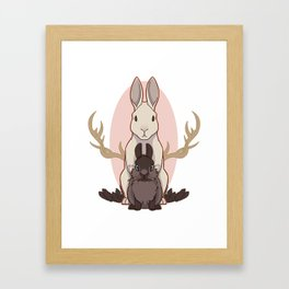eat the rude Framed Art Print