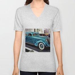 Vintage 1934 Hupmobile Aerodynamic Painting Unisex V-Neck