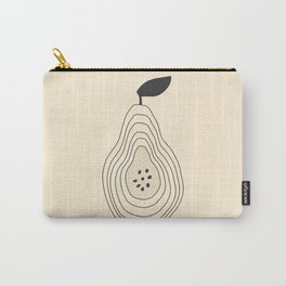 Minimalistic Outlined Pear Carry-All Pouch