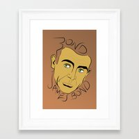 james bond Framed Art Prints featuring Bond, James Bond by FSDisseny