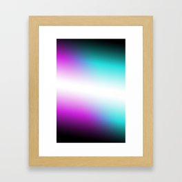 Vibrant Turquoise and Magenta Gradient Framed Art Print