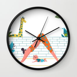 in a yoga state of mind Wall Clock