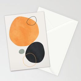 Vintage orange black watercolor hand painted background. Lovely abstract art. Elegent home decor. Stationery Cards