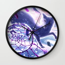 Winter Chase Wall Clock