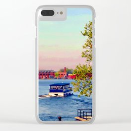 Water taxi in Baltimore Clear iPhone Case