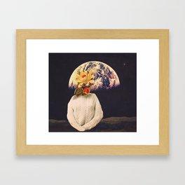 flowers from home Framed Art Print
