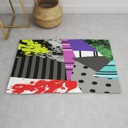 Pick A pattern II - geometric, textured, colourful, splatter, stripes, marble, polka dot, grid Rug
