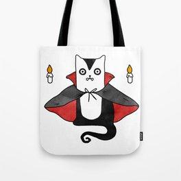 Vampire Cat – Dracula suit Tote Bag