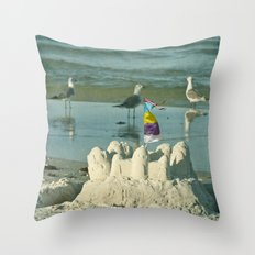 It's better at the beach #2 Throw Pillow