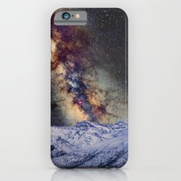 Sagitario, Scorpio and the star Antares over the hight mountains iPhone Case